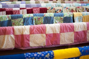 Quilts for Lutheran World Relief made by MLC Comforters sewing group.