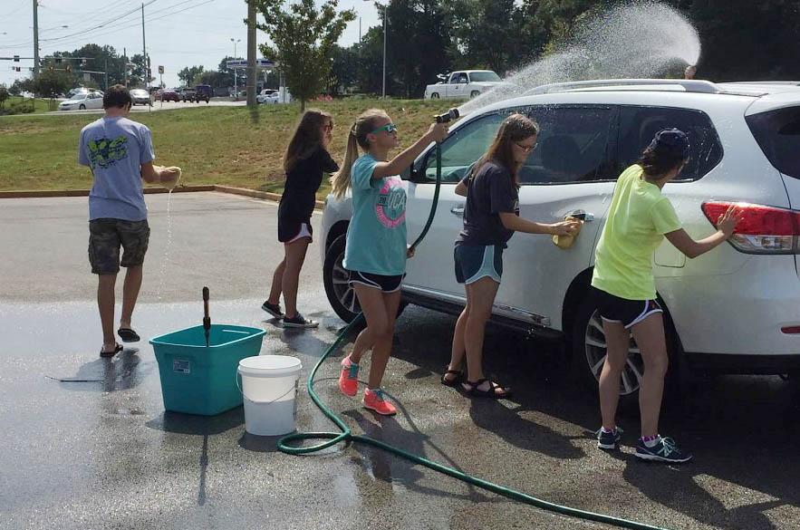 Senior Youth Car Wash Raises over $500