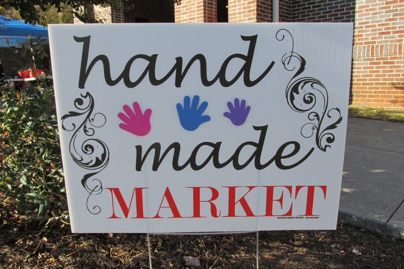 Handmade Market Sign