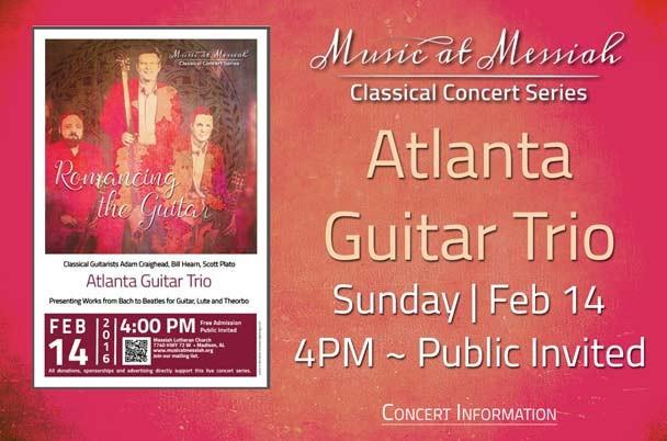 Atlanta Guitar Trio Concert Feb 14 2016