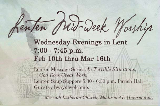 Lenten Midweek Workshop