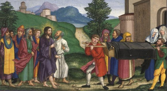 Jesus raises the son of the Widow of Nain