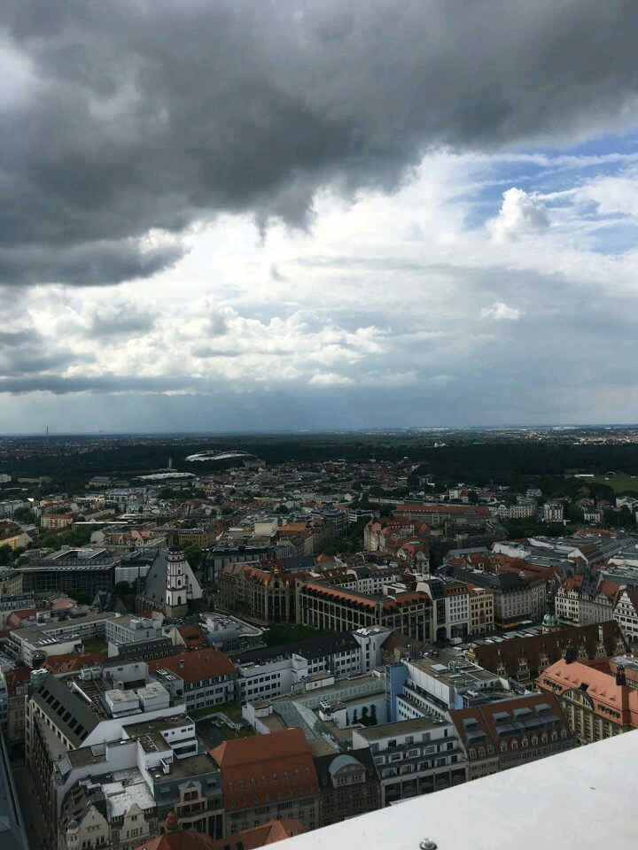 Looking out over Leipzig