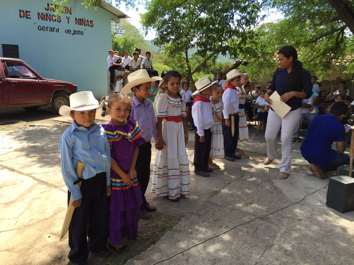 Honduran Children in Traditional dress.