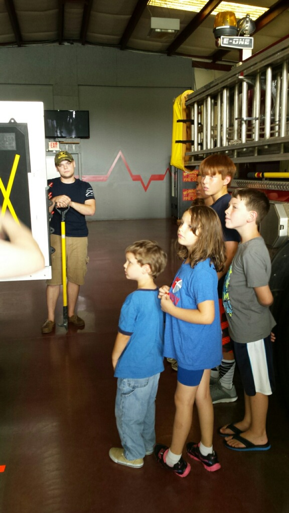Kids visit Firestation