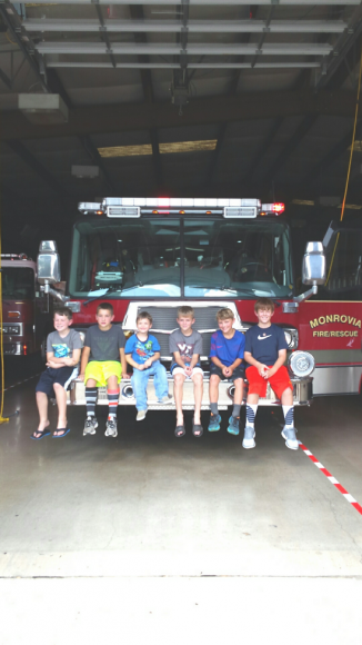 Kids with Firetruck