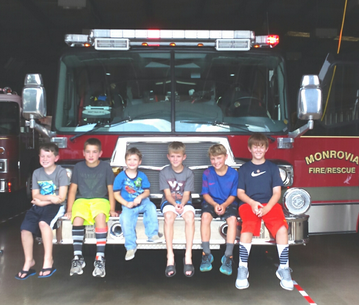Tweens Visit Monrovia Fire Station
