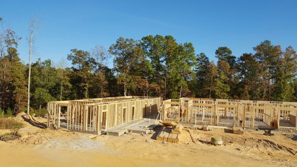 Walls are going up on Lutheranch Retreat Center