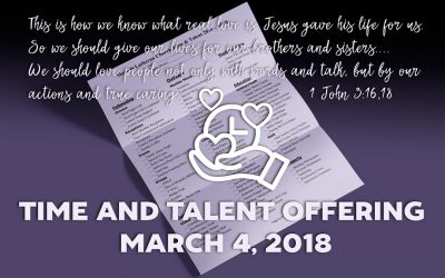 Time and Talent Offering March 4