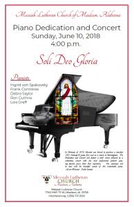 Piano Dedciation Poster