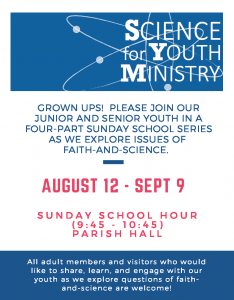 science sunday school flyer
