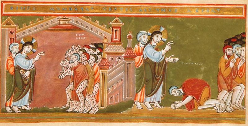 Jesus Heals the Leper Illustration