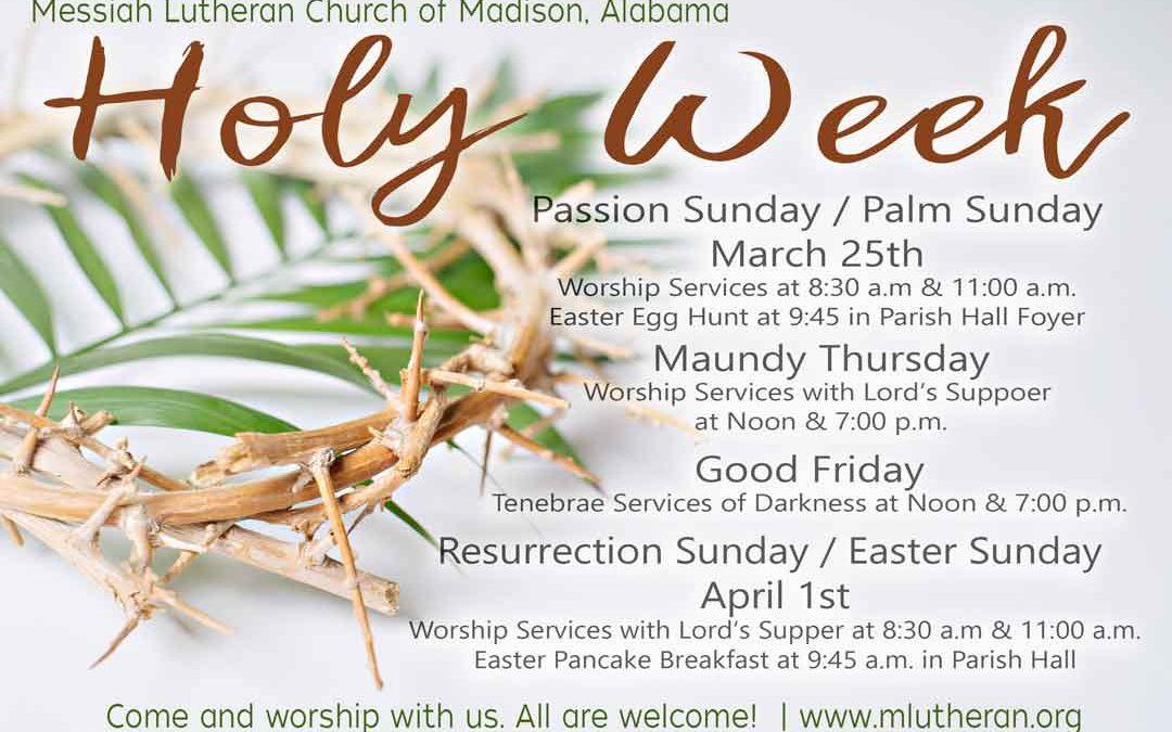 Holy Week MLC 2018