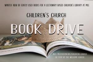 Childrens Church Book Drive