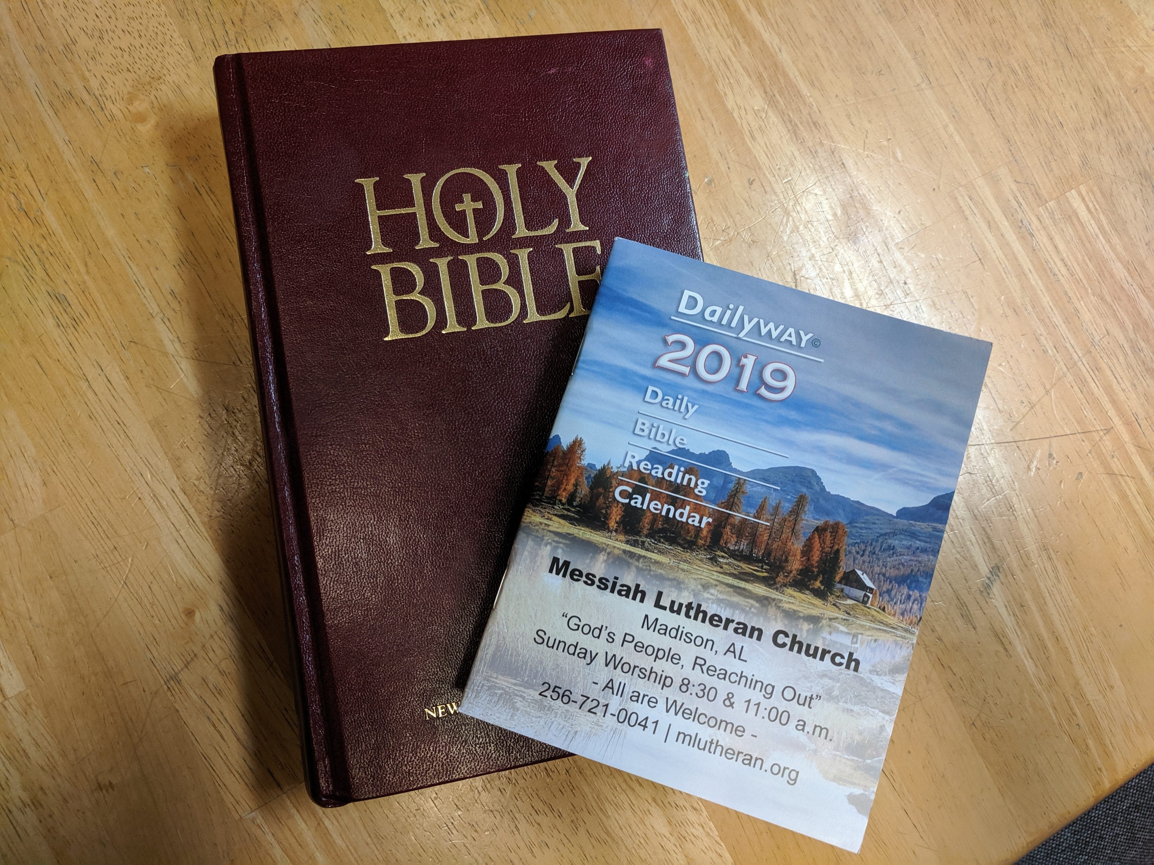 Bible Calender and Bible