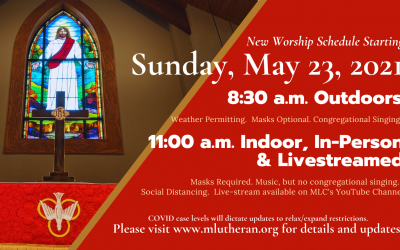 Indoor Worship Planned for May 23, 2021